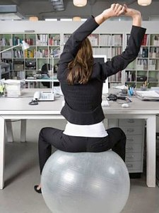 exercise ball desk chair