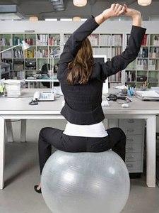 exercise ball desk chair