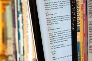 e-book and print books