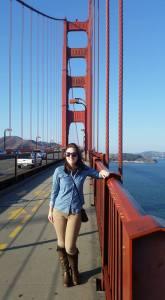 Kate on Golden Gate